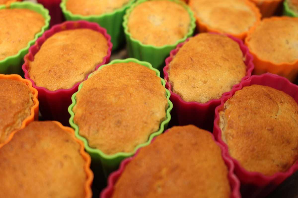 muffin con farina di riso e banana