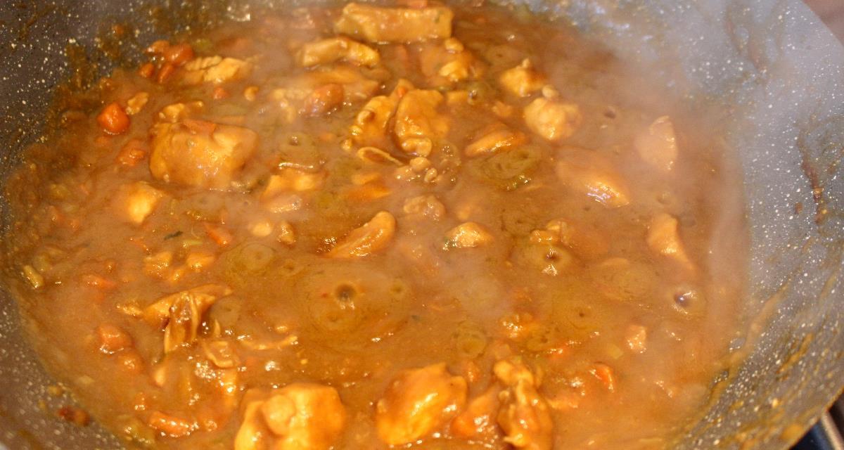 Pollo brasato con farina di lenticchie