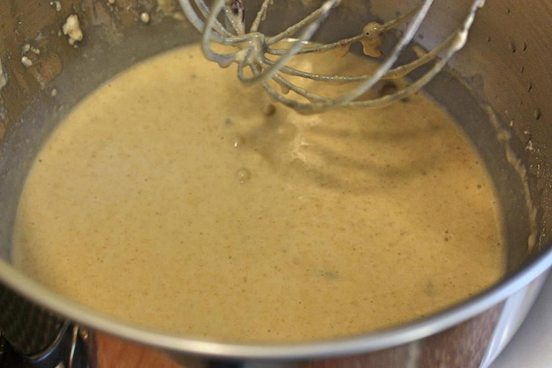 Impasto torta farina di avena e mirtilli