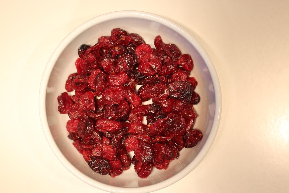 Come reidratare i mirtilli rossi essiccati