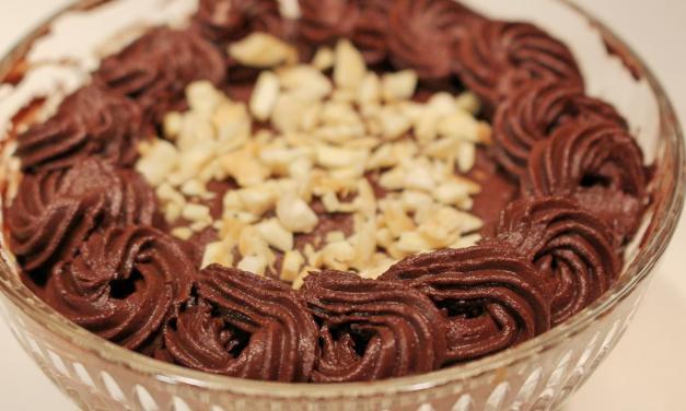 Mousse di ricotta e cioccolato, senza cottura