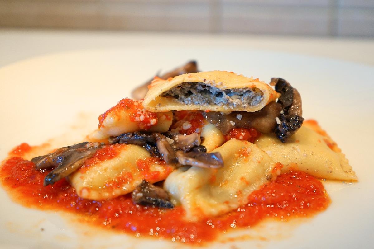 Ravioli ai funghi champignon