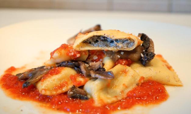 Ravioli ai funghi champignon – primo di sostanza