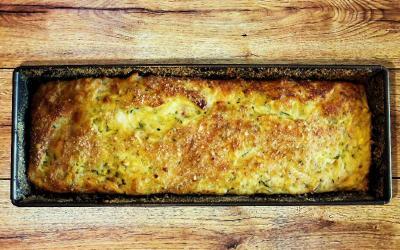 Plumcake salato con farina di riso e zucchine