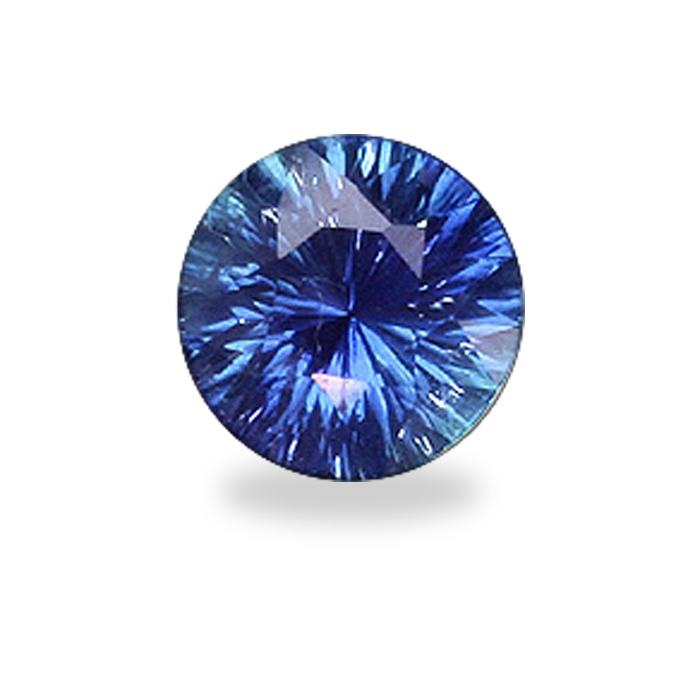 Round Concave Brilliant Cut Blue Sapphire Farlang