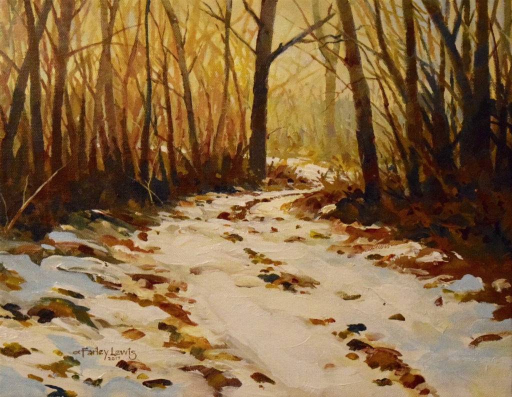 Winter Woods Glow
