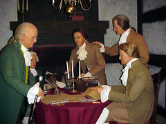 Founding Fathers labor over the declaration of...