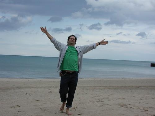 iPod beach joy