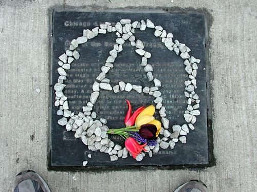 Haymarket Riot memorial, old version.