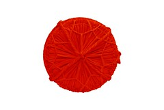 Japanese Flag Made of Rice Barrel