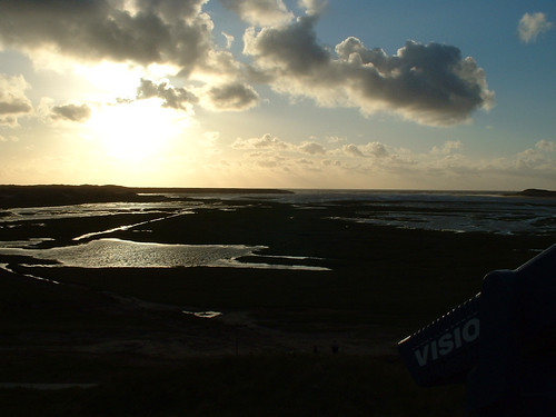 view over the Slufter area on the Wadden-islan...