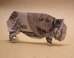 First Attempt at a Dollar-Bill Pig