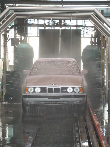 going green with the car wash