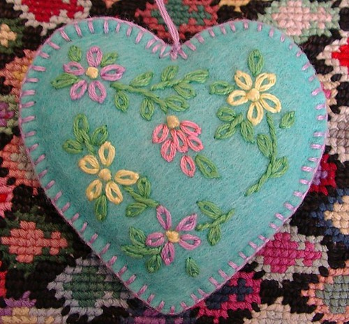 felt ornament heart