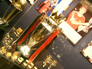 The English Premier League Trophy on Display i...