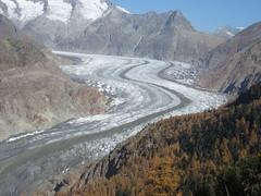 glacier d'Aletsch depuis les hauts de Bettmeralp
