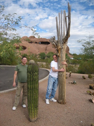Andy and Brent with Saguaros