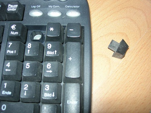 Keyboard after vacuum-cleaner