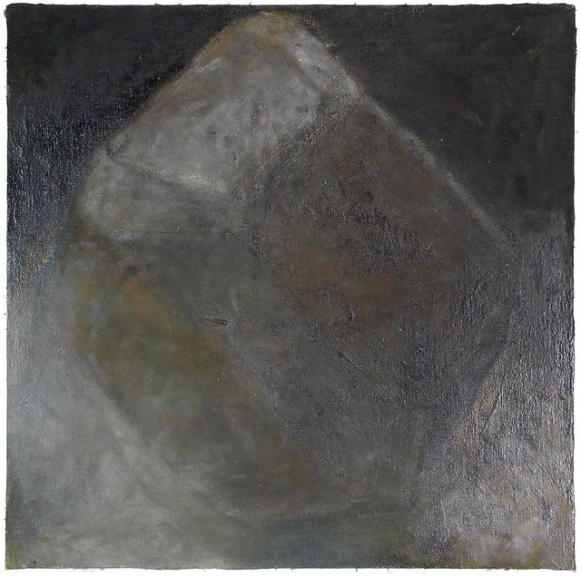 MonoT 25  x 25 cm Öl auf Nessel/Holz 2004