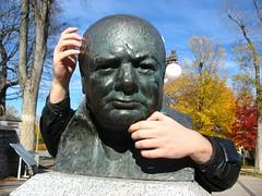 Winston Churchill ponders