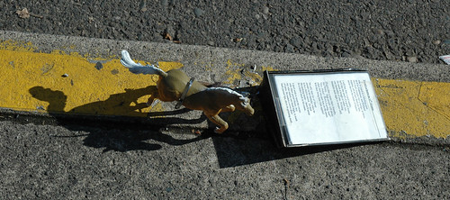 Horse and poem street art