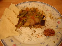 Sambar (Spicy lentils)