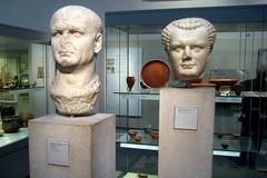 UK - London - Bloomsbury: Busts of Emperor Ves...