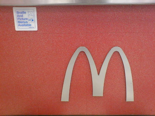 McDonalds braille menu in drive through (by John C Abell)