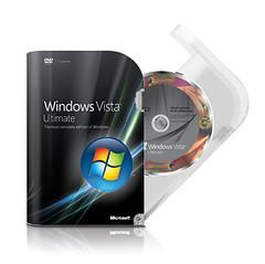 Windows Vista Ultimate Packaging Opened