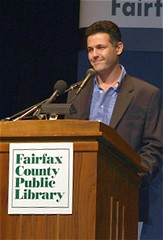 Khaled Hosseini at the podium
