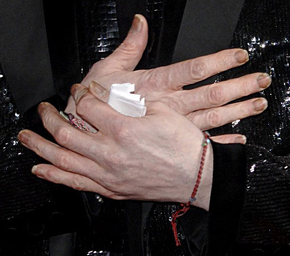 Michael Jackson's fingernails at the World Music Awards, november 15, 2006.