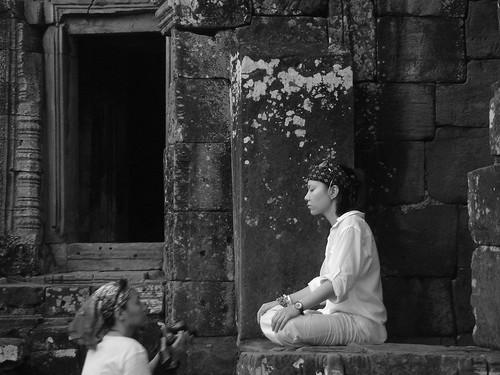 """Photo credit: """"Meditation at Bayon"""" by willposh"""