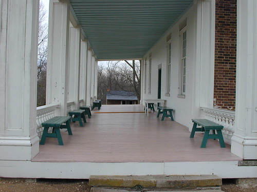 Carnton Porch, Franklin, Tennessee
