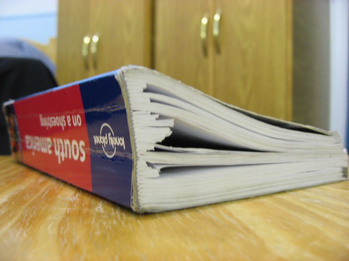 Lonely Planet with Ripped Pages