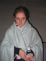 Becky's costume: sick person