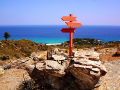 Ikaria 324 (isl_gr (away on an odyssey)) Tags: hiking ikaria icaria  aegean trails greece signage blogged cairn trailmarker balisage ege    messakti