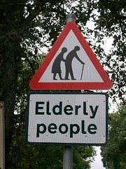 scotland, elderly people crossing (by wildvogel)