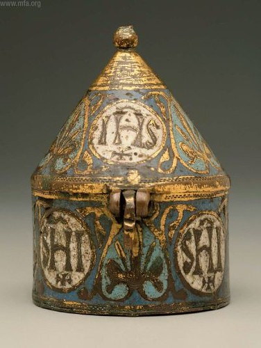 French Limoges pyx