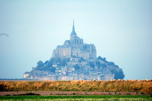 Misty morning Mont St Michel