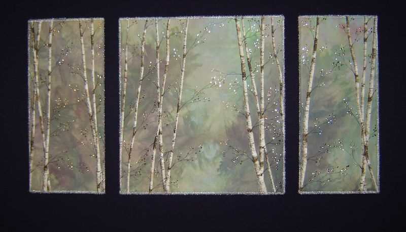 green birches