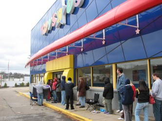 Not my line, but a good example of the long waits to get a Wii