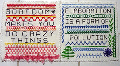 Set of samplers based on a book of needlework ...