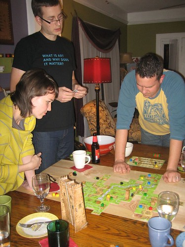 The Rays at Game Night (I just noticed Ryan's t-shirt - very funny!)