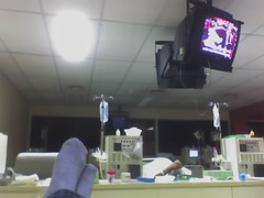 La sala desde mi camilla el d�a 24 de diciembre