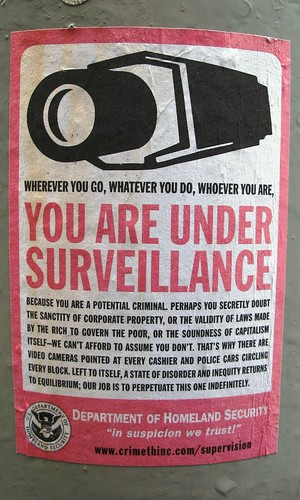 You are under surveillance by TheeErin, on Flickr
