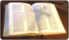 Bible with Cross Shadow