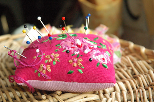 homemade pin cushion