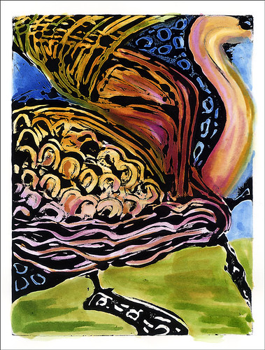 Monoprint 4 -w/Watercolor