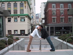 I took this picture of my brother and Marsie Chrsitmas morning 2004 ... this is in front of Maiden Lane in SF ... we were the only ones in Union Square.