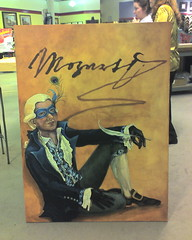 Mozart painting at Artmart being delivered for framing
